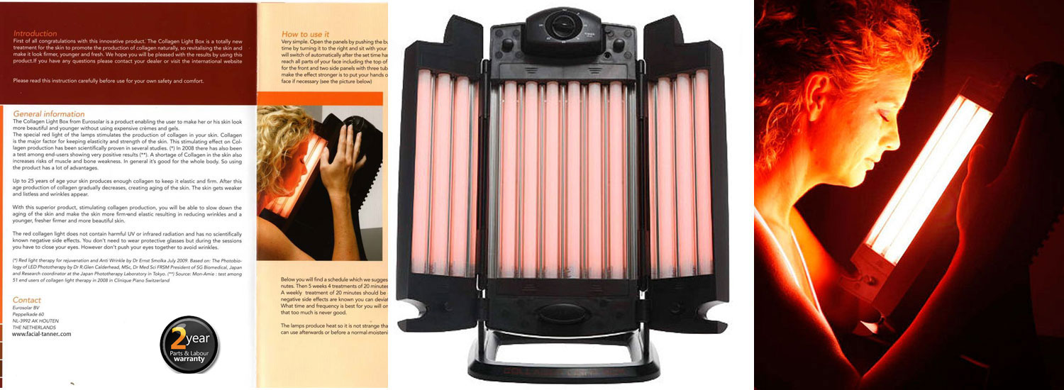 Red Light Therapy Lamp 12 Tubes Facial Collagen Light Therapy Lamp